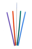 Silicone Straws | 4 + Cleaner