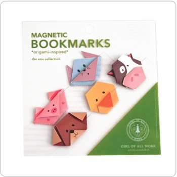 Magnetic Origami Bookmarks - Animals