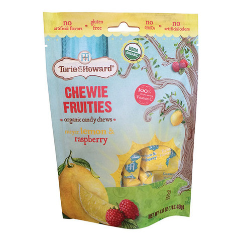 Torie & Howard Organic Fruit Chew Candy - Lemon & Raspberry