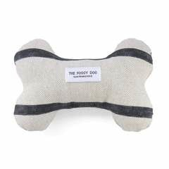 Modern Stripe Charcoal Dog Squeaky Toy