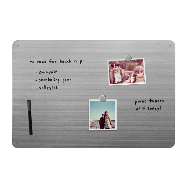 "23.5 x 15"" Dry-Erase Board - Stainless"