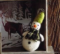Cozy Snowman Ornament