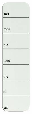 up date! Weekly Planner  – White