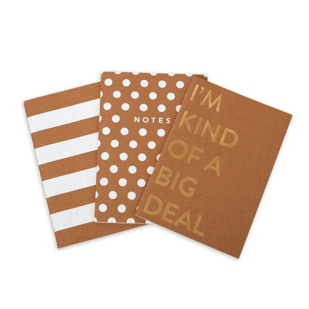 Kraft Notebooks - Set of 3