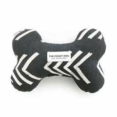 Modern Mud Cloth Black Dog Squeaky Toy