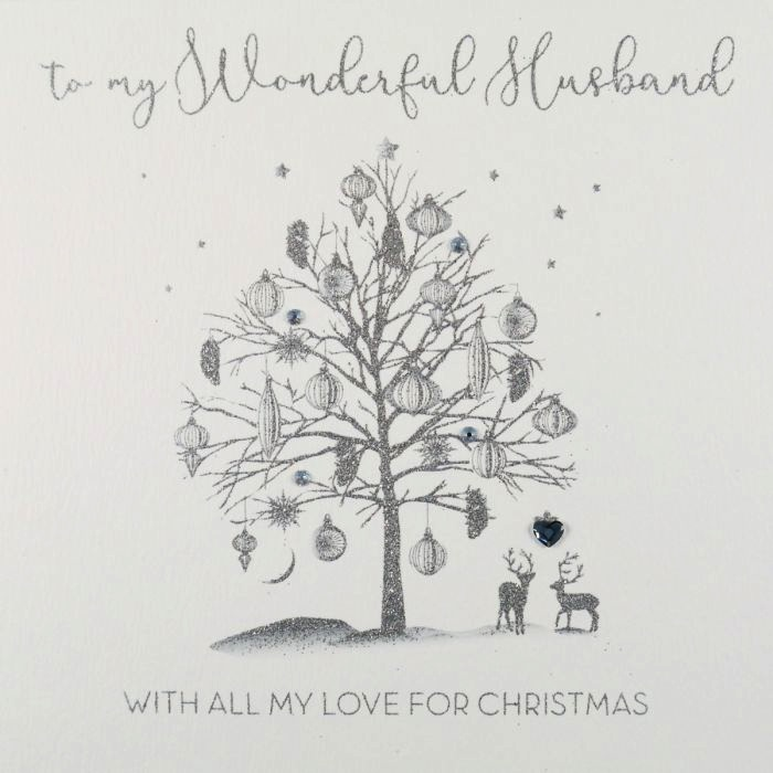ICED SILVER - To My Wonderful Husband (Tree)