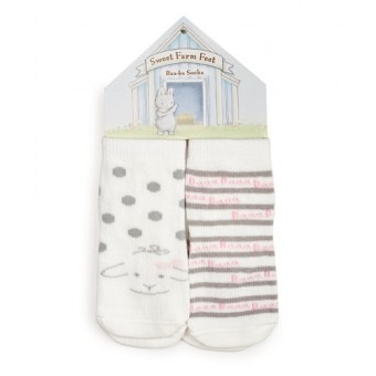 Baa-bs Socks - 2 pair - white - 3-12 mo