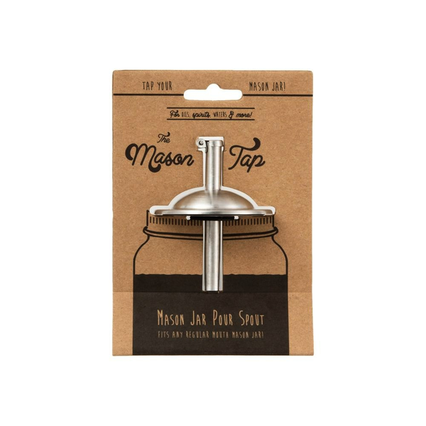 "W&P Design - Stainless Steel Mason Tap - Fits Regular 2.5"" Jars"