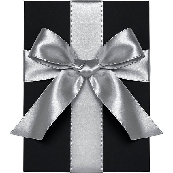 Silver Satin Ribbon 1""