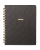 Spiral Dot Bookcloth Notebook - Onyx