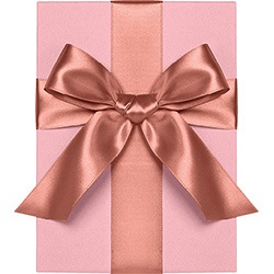 Rose Gold Satin Ribbon 1/4"