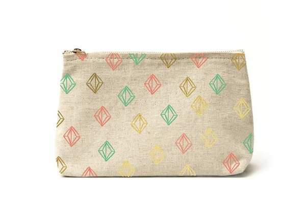 Canvas Clutch - Gold Foil Details
