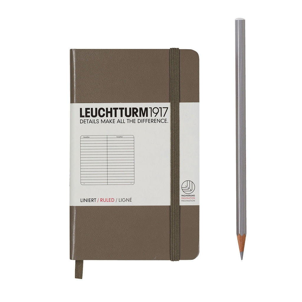 Leuctturm - Lined Pocket Book, Taupe