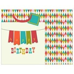 Gift Bag - Happy BirthDay Banner W/Foil