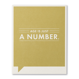F&F Card - Age is just a number