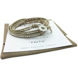 'FAITH' 3 Wrap Bracelet