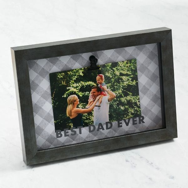 Best Dad Ever Plaid Frame