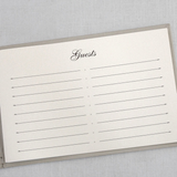 Guest Book - Unlined, Champagne