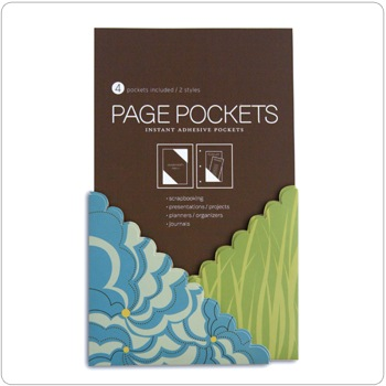 Page Pockets - blue meadow