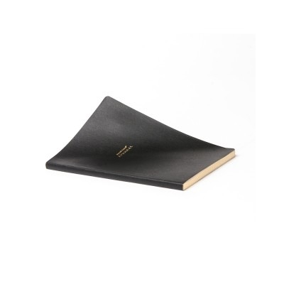 BLACK VEGAN LEATHER A5 JOURNAL