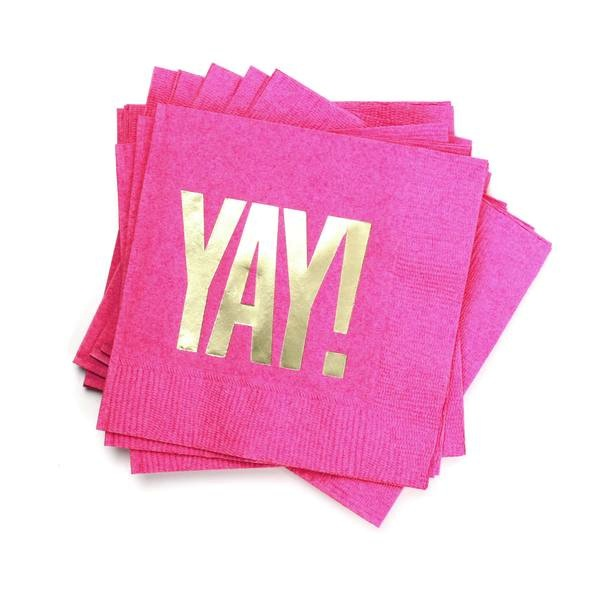 Cocktail Napkins - Yay! (Fuchsia)