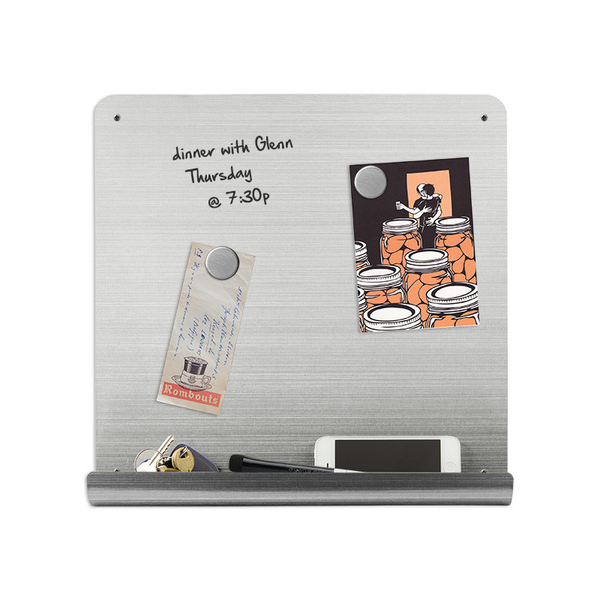 14x14 Magnetic Stainless Dry-Erase J-Board