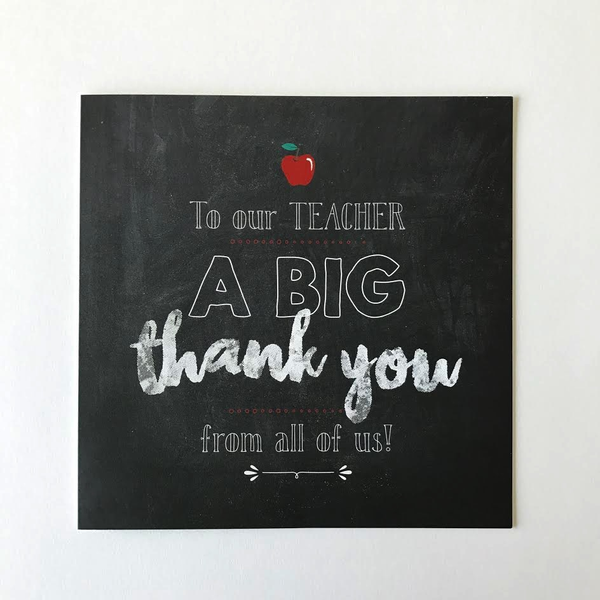 Big Thank You for Teacher