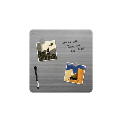 "14"" x 14"" Dry-Erase Board - Stainless"