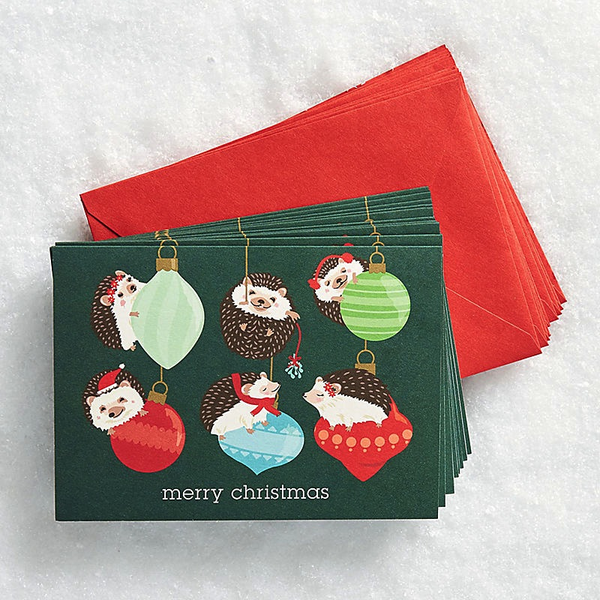 Holiday Hedgehogs Cards