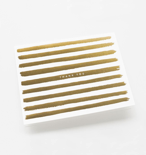 Boxed set of Gold Stripes Thank You cards