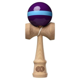Kaizen Kendama Single Stripe – Purple w/ Light Blue Stripe – GLOSS