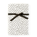 Black & White Random Dot/Chevron Gift Wrap - x3 20x27 sheets