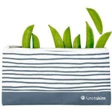 Reusable Zippered Snack Bag Blue Geo