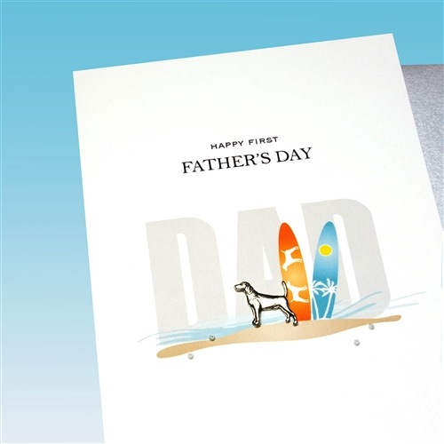 Father's Day Card -  Dog & Surfboards