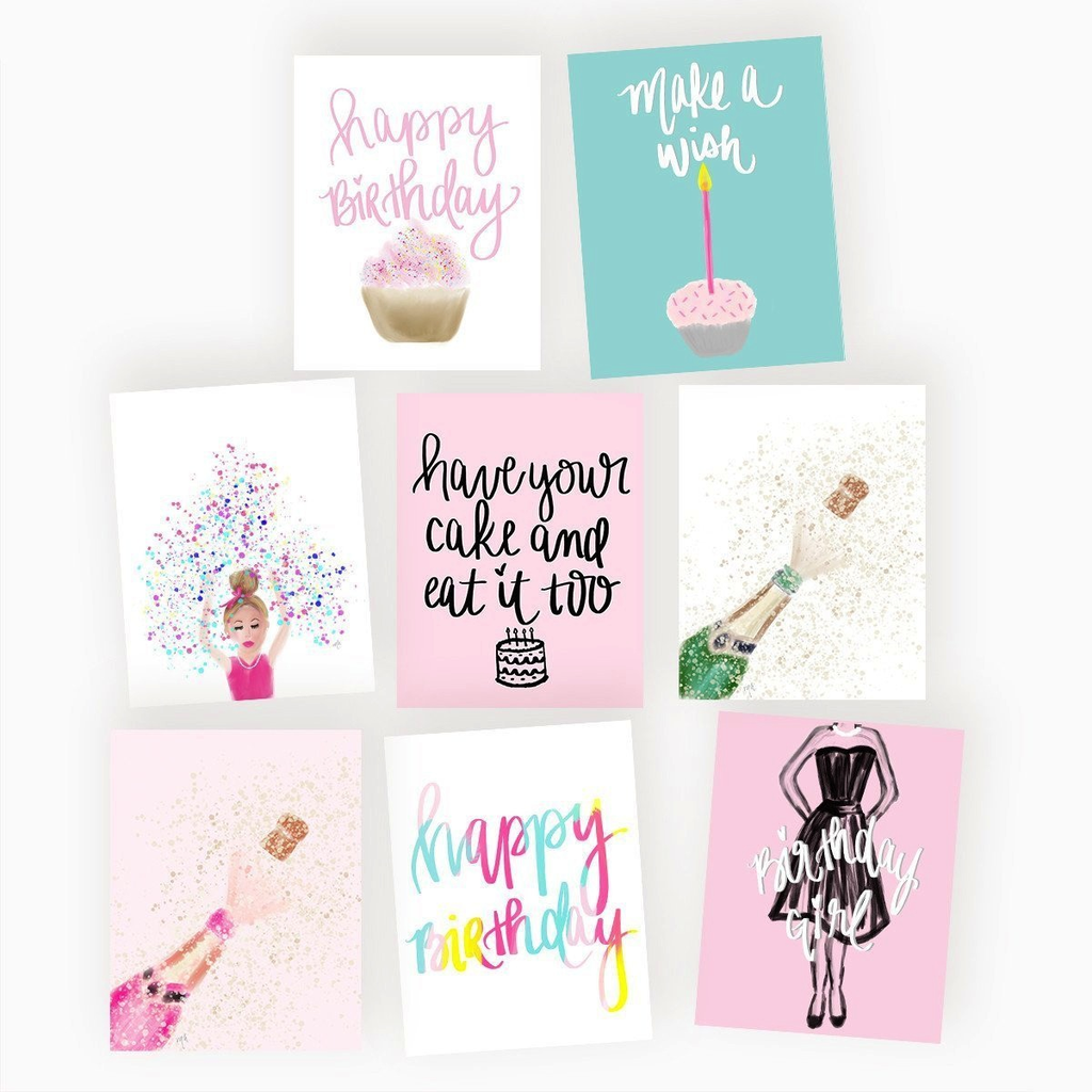 Birthday Greeting Card Assorted Set