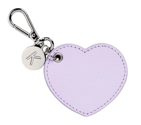 kikki k - LEATHER HEART KEY RING: LILAC