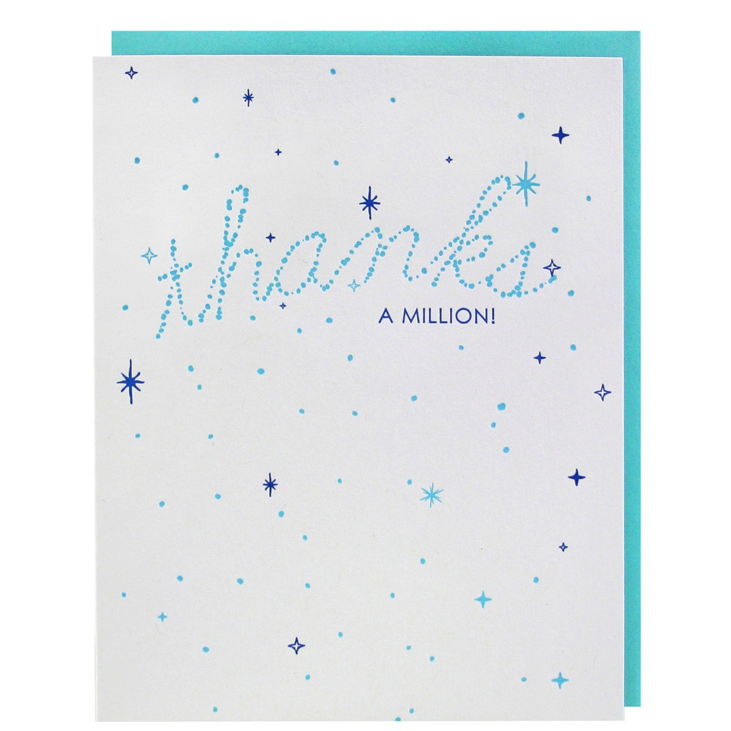 """Thanks A Million"" Boxed Cards"