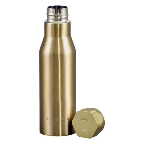 Ted Baker Pale Gold Watter Bottle With Hexagonal Lid