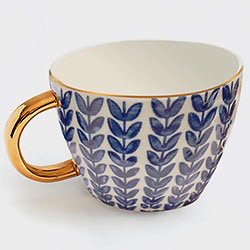 Blue Leaves Mug
