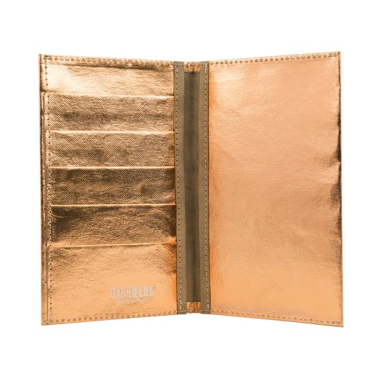 large wallet metallic rosato (rose gold)