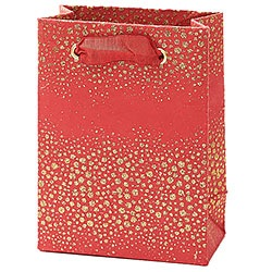Champagne Bubbles on Red Small Bag