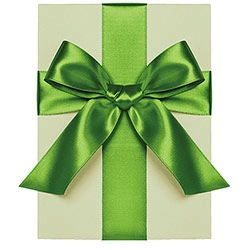 "1"" Satin Ribbon - Clover"