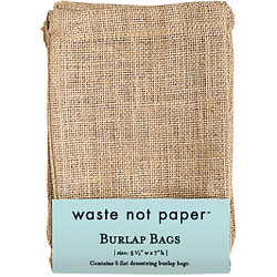 Burlap Drawstring Bag (5 pk)