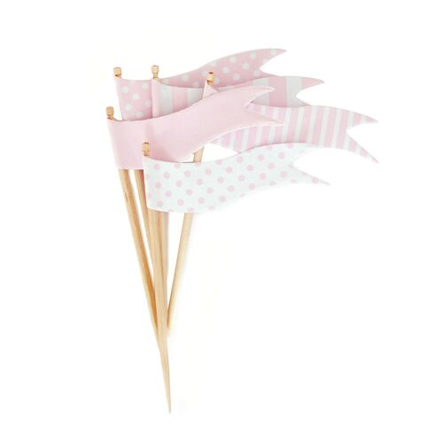 Topper - Marshmallow Pink Flags
