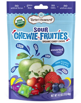 Torie & Howard Organic SOUR Fruit Chews, Asstd 