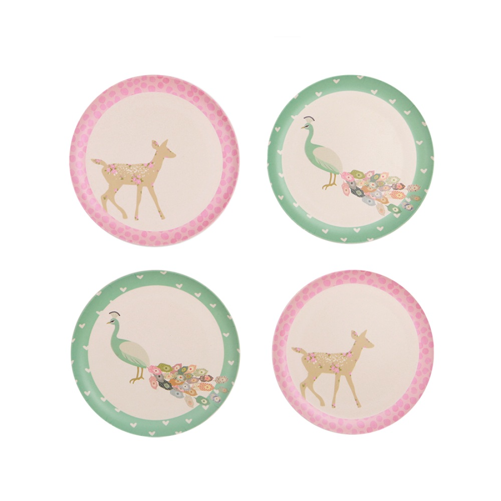 Plates - Peacock and Doe (4 pack)