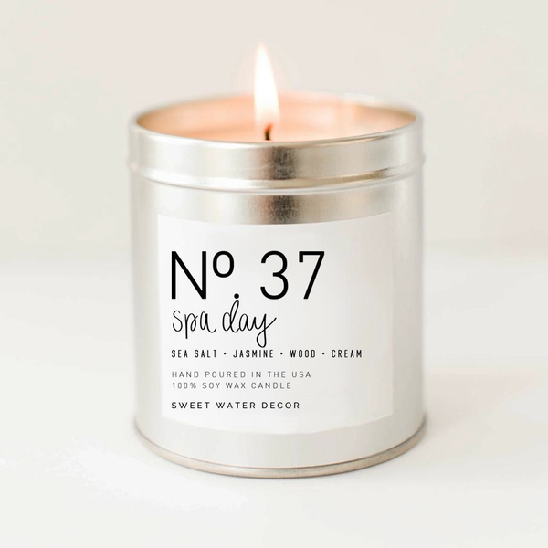 SPA DAY SOY CANDLE | SILVER TIN CANDLE