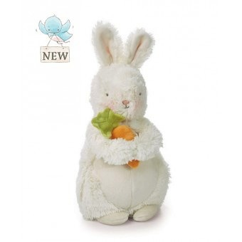 "Bunches - 10"" Plush Bunny with Carrot"