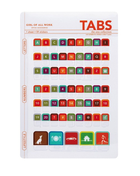 Peel and Stick Tabs - Letters and Numbers