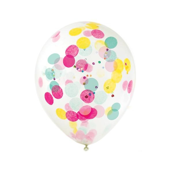 Birthday Brights Confetti Balloon - Kit - Set of 3